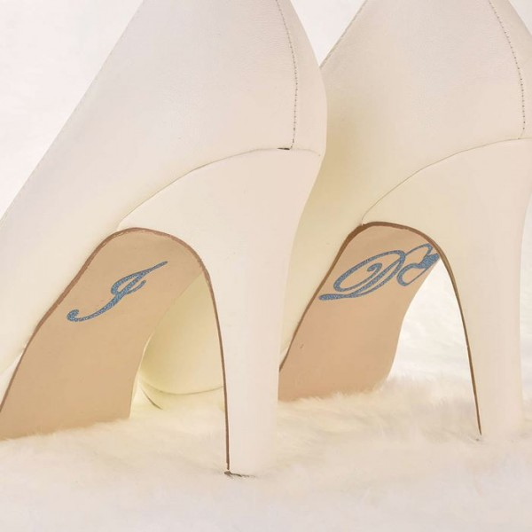 """I Do"" Schuhsticker Blau"